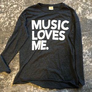 "Zara teen ""music loves me"" tee"